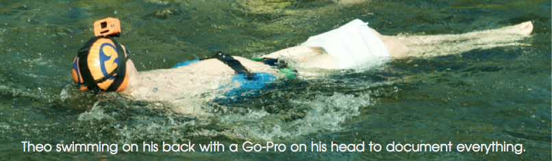 Theo swimming